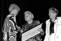April 11, 1990 File Photo - <br /> <br /> <br />  - May Cutler, Mayor of Westmount (R)<br />  Jeanne Sauve, Governor General of Canada (M)