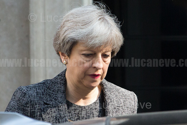 Theresa May (Prime Minister, First Lord of the Treasury, Minister for the Civil Service).<br />