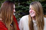 Girlfriends outdoors
