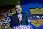 BOGOTÁ – COLOMBIA 17-12-2013 / En evento que se llevó a cabo en la nueva Sede Deportiva de la Federación Colombiana de Fútbol, en Bogotá, se realizó el sorteo para determinar los enfrentamientos y fechas de 2014 de los torneos de primera y segunda división del Fútbol Profesional Colombiano. / Ramón Jesurum, presidente de la Dimayor