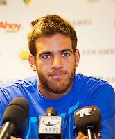 10-02-13, Tennis, Rotterdam,Press conference with DelPotro