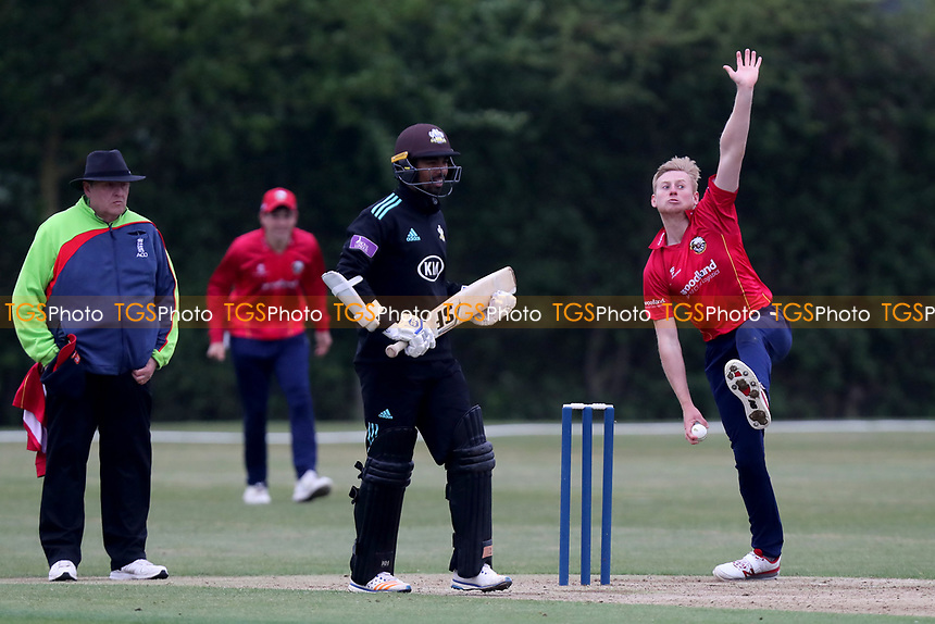 Callum Taylor in bowling action during Essex CCC 2nd XI vs Surrey CCC 2nd XI, Second XI Trophy Cricket at Billericay Cricket Club on 3rd May 2017