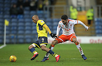 Blackpool's Kelvin Mellor in action with Oxford United's Wes Thomas<br /> <br /> Photographer Mick Walker/CameraSport<br /> <br /> The EFL Sky Bet League One - Rochdale v Blackpool - Monday 1st January 2018 - Spotland Stadium - Rochdale<br /> <br /> World Copyright &copy; 2018 CameraSport. All rights reserved. 43 Linden Ave. Countesthorpe. Leicester. England. LE8 5PG - Tel: +44 (0) 116 277 4147 - admin@camerasport.com - www.camerasport.com