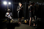 JOHANNESBURG, SOUTH AFRICA - MARCH 27: Models wait backstage before a fashion show at the South African fashion week on March 27, 2010, Turbine Hall in central Johannesburg, South Africa. Buyers and celebrities watched the 3 day fashion week, a biannual event. (Photo by Per-Anders Pettersson)