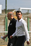 Horsham FC Manager, Simon Cobran during the pre-season friendly between Great Wakering Rovers v Horsham FC, 28th July 2012 at Burroughs Park
