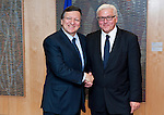 Brussels - Belgium, June 05, 2012 -- MdB Frank-Walter STEINMEIER (ri), chairman of the SPD's parliamentary group in the Bundestag (German Parliament), for political talks in Brussels; here, with Jose (José) Manuel BARROSO (le), President of the European Commission -- Photo: © HorstWagner.eu