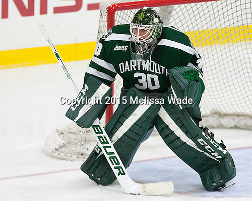 Charles Grant (Dartmouth - 30) - The Harvard University Crimson defeated the Dartmouth College Big Green 5-2 to sweep their weekend series on Sunday, November 1, 2015, at Bright-Landry Hockey Center in Boston, Massachusetts. -