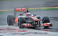 SPA FRANCORCHAMPS, BELGICA, 31 AGOSTO 2012  - F1 - GP DA BELGICA - O piloto britanico Jeson Button da equipe McLaren durante segundo dia de treinos livres para o GP da Belgica que acontece no proximo domingo. (FOTO: PIXATHLON / BRAZIL PHOTO PRESS).