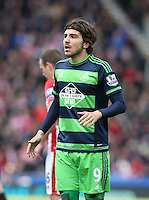 Swansea City's Alberto Paloschi during the Barclays Premier League match between Stoke City and Swansea City played at Britannia Stadium, Stoke on April 2nd 2016