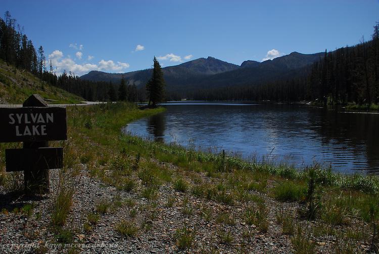 Sylvan Lake of Yellowstone National Park