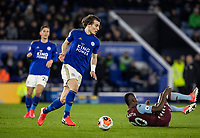 Leicester City's Caglar Soyuncu (centre) breaks <br /> <br /> Photographer Andrew Kearns/CameraSport<br /> <br /> The Premier League - Leicester City v Aston Villa - Monday 9th March 2020 - King Power Stadium - Leicester<br /> <br /> World Copyright © 2020 CameraSport. All rights reserved. 43 Linden Ave. Countesthorpe. Leicester. England. LE8 5PG - Tel: +44 (0) 116 277 4147 - admin@camerasport.com - www.camerasport.com