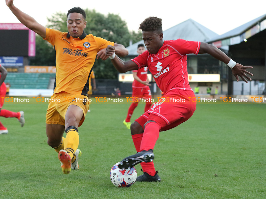 Brandon Thomas Asante of MK Dons in action during Newport County vs MK Dons, EFL Cup Football at Rodney Parade on 9th August 2016
