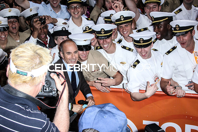 NEW YORK CITY, NY, USA - MAY 23: Matt Lauer performs on NBC's 'Today' at the Rockefeller Center on May 23, 2014 in New York City, New York, United States. (Photo by Jeffery Duran/Celebrity Monitor)