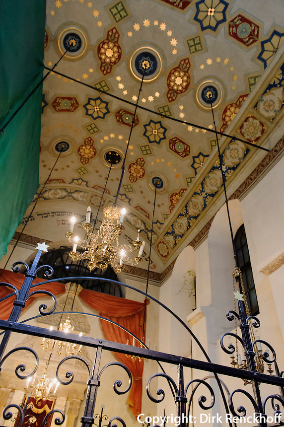 Kupa Synagoge in Krakau-Kazimierz, Woiwodschaft Kleinpolen (Wojew&oacute;dztwo małopolskie), Polen, Europa, UNESCO-Weltkulturerbe<br /> Kupa Synagogue  in Krakow-Kazimierz, Poland, Europe, UNESCO heritage site