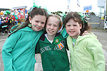 Nadine Seery, Lauren McCormick and Keely Seery at the 2011 St.Patrick's Day Parade in Drogheda...(Photo credit should read Jenny Matthews/www.newsfile.ie)....This Picture has been sent you under the conditions enclosed by:.Newsfile Ltd..The Studio,.Millmount Abbey,.Drogheda,.Co Meath..Ireland..Tel: +353(0)41-9871240.Fax: +353(0)41-9871260.GSM: +353(0)86-2500958.email: pictures@newsfile.ie.www.newsfile.ie.