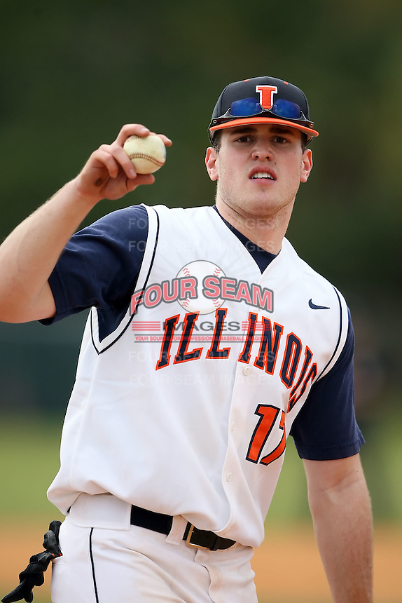 February 22, 2009:  First baseman Matt Dittman (17) of the University of Illinois during the Big East-Big Ten Challenge at Naimoli Complex in St. Petersburg, FL.  Photo by:  Mike Janes/Four Seam Images