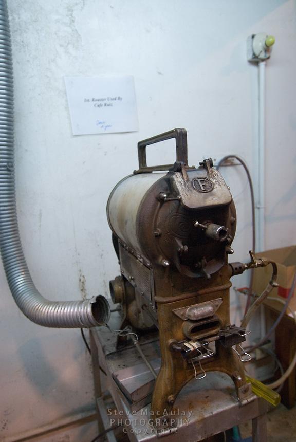 Coffee roaster, Cafe Ruiz, Coffee Plantation and Finca, Boquete, Panama