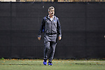DURHAM, NC - NOVEMBER 25: Duke head coach John Kerr. The Duke University Blue Devils hosted the Fordham University Rams on November 25, 2017 at Koskinen Stadium in Durham, NC in an NCAA Division I Men's Soccer Tournament Third Round game. Fordham advanced 8-7 on penalty kicks after the game ended in a 2-2 tie after overtime.