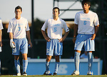 2 September 2007: North Carolina's Zach Lloyd (3), Michael Callahan (5), and David Rodgriguez (6). The University of North Carolina Tar Heels tied the Old Dominion University Monarchs 1-1 at Fetzer Field in Chapel Hill, North Carolina in an NCAA Division I Men's Soccer game.