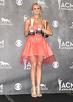 LAS VEGAS, NV, USA - APRIL 06: Miranda Lambert in the press room at the 49th Annual Academy Of Country Music Awards held at the MGM Grand Garden Arena on April 6, 2014 in Las Vegas, Nevada, United States. (Photo by Celebrity Monitor)