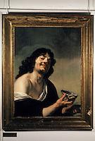 """Europe/France/Auverne/63/Puy-de-Dôme/Riom: Le musée Mandet - """"Le mangeur d'huîtres"""" (par Backer)"""