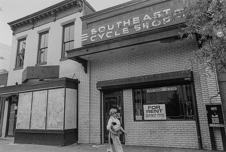 Southeast cycle shop out of business, on June 29, 1995. (Photo by Maureen Keating/CQ Roll Call via Getty Images)