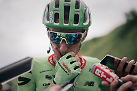 Pierre Rolland (FRA/Cannondale-Drapac) interviewed after the finish<br /> <br /> 104th Tour de France 2017<br /> Stage 8 - Dole &rsaquo; Station des Rousses (187km)