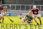 Michael O'Leary Kerry in action against Conor Shaw Westmeath in the Allianz Hurling League 2A at Austin Stack Park on Sunday.