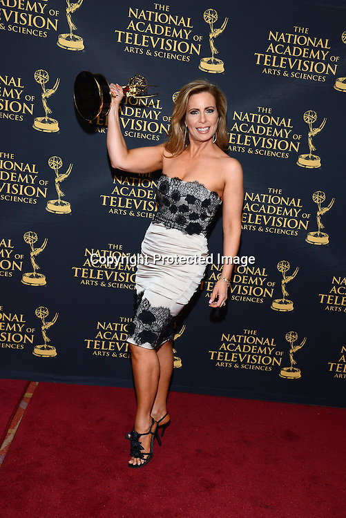 Martha Byrne winner for actress in a serial attends the Daytime Emmy Creative Arts Awards Press Room on April 24, 2015 at the Universal l Hilton in Universal City,<br /> California, USA.