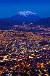 Mt Illimani, La Paz, El Alto, Dusk, Bolivia