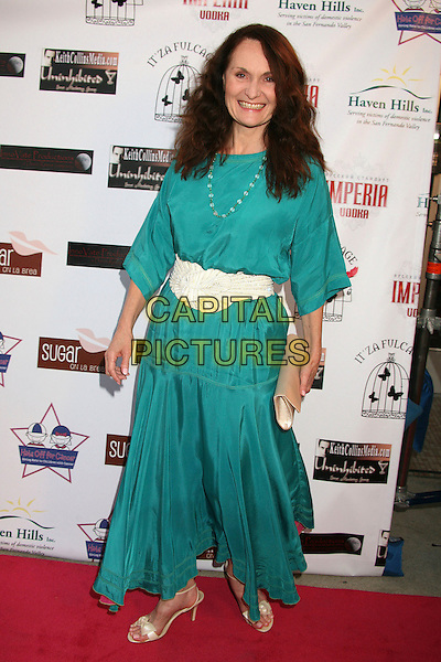 "BETH GRANT .""Hats Off For Cancer"" Benefit Party at Sugar Boutique, Hollywood, California, USA..May 9th, 2007.full length turquoise dress white belt .CAP/ADM/BP.©Byron Purvis/AdMedia/Capital Pictures"