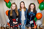 Catherine Newcombe, Tierna Ni Gibson and Connie Newcombe from Kanturk attending the WIDA Irish Dancing Associations championships in the Brandon Hotel on Saturday morning.