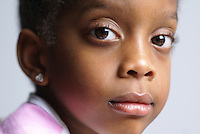 Face of a young Black Female Child