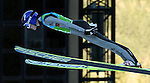 A Jumper competes during the Normal Hill Ski Jumping mixed team event as part of the Winter Universiade Trentino 2013 on 17/12/2013 in Predazzo, Italy.<br /> <br /> &copy; Pierre Teyssot - www.pierreteyssot.com