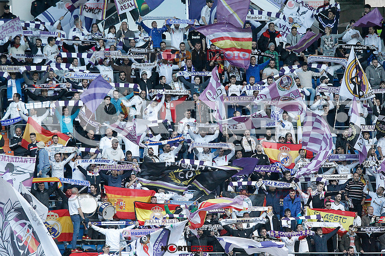 Real Madrid's supporters during La Liga match.January 31,2015. (ALTERPHOTOS/Acero) /NortePhoto<br />