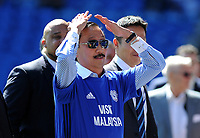Cardiff City owner Vincent Tan does the ayotollah to the home supporters <br /> <br /> Photographer Ashley Crowden/CameraSport<br /> <br /> The EFL Sky Bet Championship - Cardiff City v Aston Villa - Saturday August 12th 2017 - Cardiff City Stadium - Cardiff<br /> <br /> World Copyright &copy; 2017 CameraSport. All rights reserved. 43 Linden Ave. Countesthorpe. Leicester. England. LE8 5PG - Tel: +44 (0) 116 277 4147 - admin@camerasport.com - www.camerasport.com