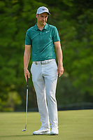 Ross Fisher (ENG) after barely  missing his putt on 5 during 4th round of the 100th PGA Championship at Bellerive Country Club, St. Louis, Missouri. 8/12/2018.<br /> Picture: Golffile   Ken Murray<br /> <br /> All photo usage must carry mandatory copyright credit (© Golffile   Ken Murray)