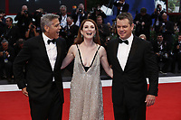 VENICE, ITALY - September 2nd: George Clooney, Julianne Moore and Matt Damon attend the red carpet during 74th Venice Film Festival at Palazzo Del Cinema on September 2nd,, 2017 in Venice, Italy. (Mark Cape/insidefoto)