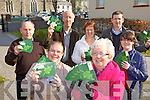 SPREADING THE WORD: Members of the North Kerry Reaching Out committee with some of their new St Patrick's Day postcards, front l-r: Marie Leahy, Mary Cogan. Back l-r: Tom Fitzgerald, Joe Harrington, Kay O'Leary, Ger Greaney, Grace Kelly.