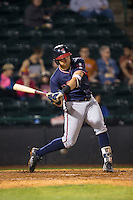 Austin Riley (13) of the Rome Braves at bat against the Hickory Crawdads at L.P. Frans Stadium on May 12, 2016 in Hickory, North Carolina.  The Braves defeated the Crawdads 3-0.  (Brian Westerholt/Four Seam Images)
