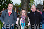 Jason Russell, Mary Burke and John Daly Killarney at the start of the Deja Vú Rally in Killarney on Sunday