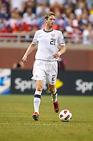 7 June 2011: USA Men's National Team defender Clarence Goodson (21) during the CONCACAF soccer match between USA and Canada at Ford Field Detroit, Michigan. USA won 2-0.