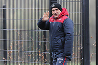 Manager Carlos Carvalhal waves to the camera during the Swansea City Training at The Fairwood Training Ground, Swansea, Wales, UK. Wednesday 21 February 2018