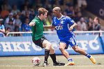 Citi All Stars (in blue) vs Yau Yee League Masters (in green) during their Masters Tournament Cup Semi-Final match, part of the HKFC Citi Soccer Sevens 2017 on 28 May 2017 at the Hong Kong Football Club, Hong Kong, China. Photo by Marcio Rodrigo Machado / Power Sport Images