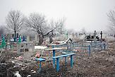 Friedhof Myronivsky nahe Debaltsewo nach dem Abkommen von Minsk zu Beginn des Waffenstillstandes, 15.02.2015/   Myronivsky near Debaltseve after the  Minsk deal at the Begining of ceasefire_15.02.2014