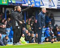 Gillingham Manager Steve Lovell left barks instructions from the side lines during Portsmouth vs Gillingham, Sky Bet EFL League 1 Football at Fratton Park on 6th October 2018