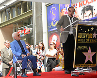 Charles Aznavour &amp; Peter Bogdanovich at the the Hollywood Walk of Fame star ceremony honoring French singer Charles Aznavour on Hollywood Boulevard, USA 24 Aug. 2017<br /> Picture: Paul Smith/Featureflash/SilverHub 0208 004 5359 sales@silverhubmedia.com