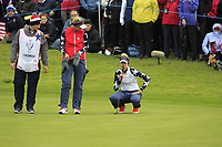 Jessica and Nelly Korda of Team USA on the 10th green during Day 2 Foursomes at the Solheim Cup 2019, Gleneagles Golf CLub, Auchterarder, Perthshire, Scotland. 14/09/2019.<br /> Picture Thos Caffrey / Golffile.ie<br /> <br /> All photo usage must carry mandatory copyright credit (© Golffile | Thos Caffrey)