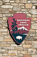 National park sign, Valley Forge, PA, Pennsylvania, USA