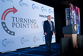 United States President Donald J. Trump arrives to make remarks at Turning Point USA's Teen Student Action Summit 2019 in Washington, DC on July 23, 2019. <br /> Credit: Chris Kleponis / Pool via CNP